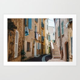 Provence Street - Southern France Town in Summer - Cannes Architecture Art Print