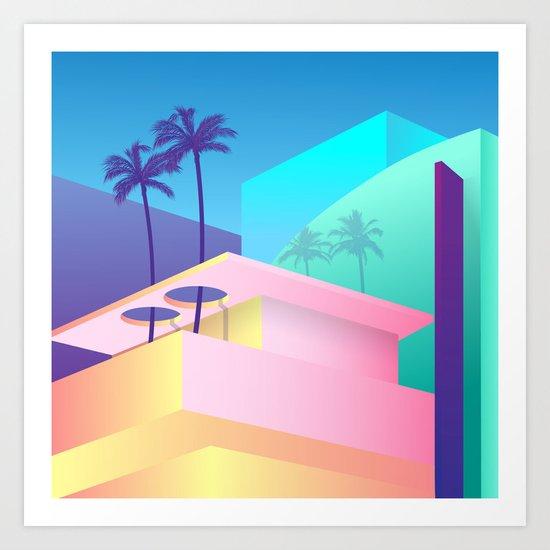 Pastel Paradise #006 Art Print