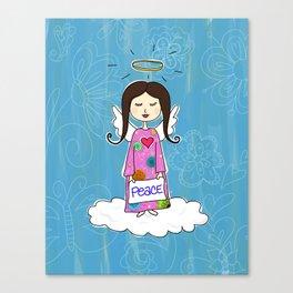 Angel In Doodle Heaven Canvas Print