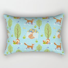 Foxes in Galoshes Rectangular Pillow