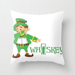 St. Patrick's Day Irish Whiskey Throw Pillow