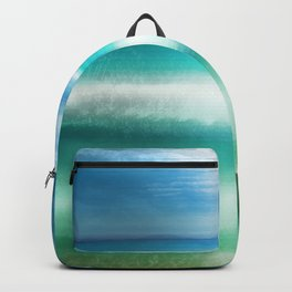 """Blue sky over teal sea South"" Backpack"