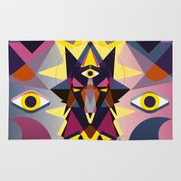 wolves Area & Throw Rugs featuring Wolves by youareconstance