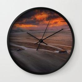 Where The Waves Break Wall Clock