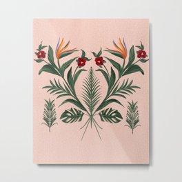 The Pink Tikki Room Metal Print