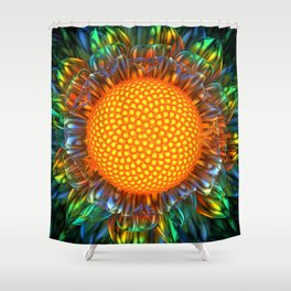 Sunburst Daisy Shower Curtain