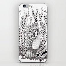 Zentangle Nautilus in the Ocean Illustration iPhone & iPod Skin