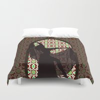 arabic Duvet Covers featuring arabic dancer by Ricardo Jeronimo