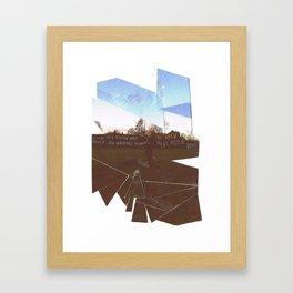 SFT cut up Framed Art Print