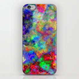 Abstract bright colorful watercolor brushstrokes pattern iPhone Skin