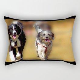 two dogs Rectangular Pillow