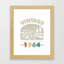 Birthday Gift Vintage 1964 Classic Framed Art Print