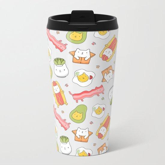 Cat food and succulent Metal Travel Mug