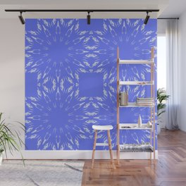 Periwinkle Blue Color Burst Wall Mural