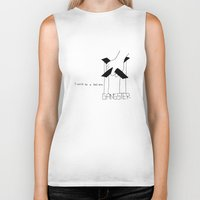 gangster Biker Tanks featuring Gangster by Larice Barbosa