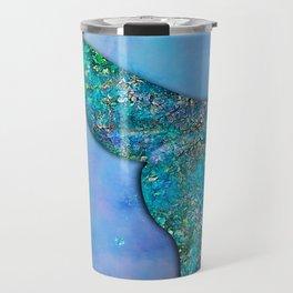 Sparkly Mermaid Tail Fin Travel Mug