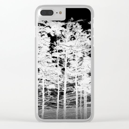 Tree | Trees | Landscape | White Trees Vignette Clear iPhone Case