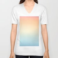 gradient V-neck T-shirts featuring Gradient Sun by Alexandra Str