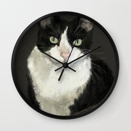 Cat Eightball Wall Clock