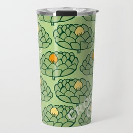 Artichoke GreenOrange Travel Mug