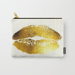 Lips Gold Carry-All Pouch