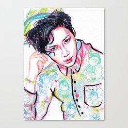 SHINee Taemin Colorful Canvas Print