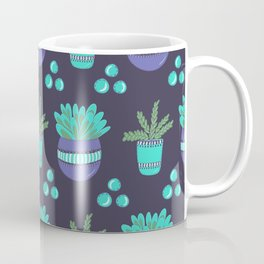 Potted Plants Pattern Coffee Mug