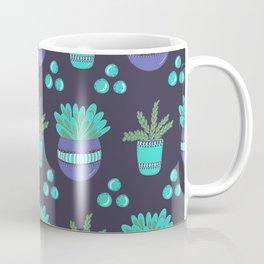 Potted Plants Pattern Coffee Mug