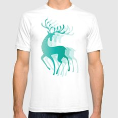Dancing Deer SMALL White Mens Fitted Tee