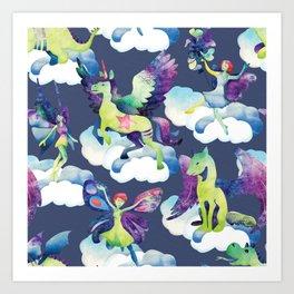 Fly into my dreams Art Print