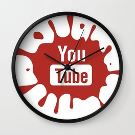 youtube youtuber - best designf or YouTube lover Wall Clock