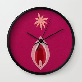 de Flower [pink] Wall Clock
