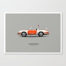 1968 Porsche 911 POLICE CAR Canvas Print
