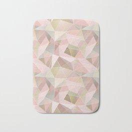 Broken glass in light pink tones. Bath Mat