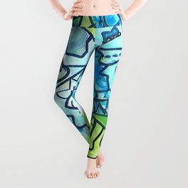 Spring time geometric abstract drawing Leggings