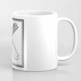 Zentangle K Monogram Alphabet initial Coffee Mug