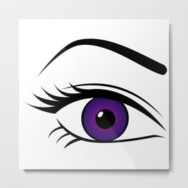 Violet Right Eye Metal Print