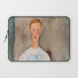 "Amedeo Modigliani ""Girl with a Polka-Dot Blouse (Jeune fille au corsage à pois)"" Laptop Sleeve"