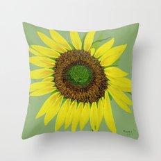 Sunflower painted  Throw Pillow