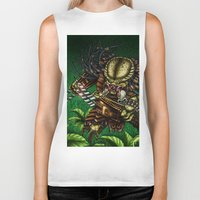 predator Biker Tanks featuring PREDATOR  by Bungle