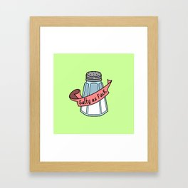 Salty Framed Art Print