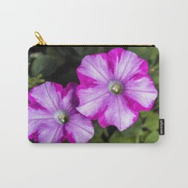Pair of Petunia flowers Carry-All Pouch