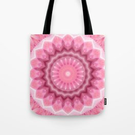Mandala pink and white no. 2 Tote Bag
