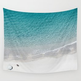 Drone Beach Wall Tapestry