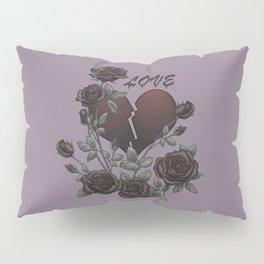 Black Roses Broken Heart Lost Love Pillow Sham