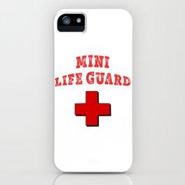 Cute Mini Life guard design fo rthe pool kid iPhone Case