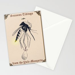 Yule Mosquito Stationery Cards