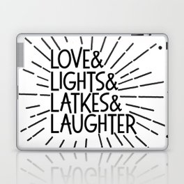 LOVE & LIGHTS & LATKES & LAUGHTER Hanukkah ampersand design Laptop & iPad Skin