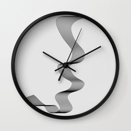 ''Dove Collection'' - Minimal Letter J Print Wall Clock