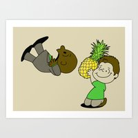 psych Art Prints featuring Psych! by AriesNamarie